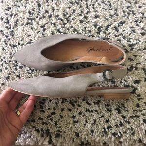 Free people grey suede flats